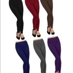 💜JUST IN!💜Fleece-lined leggings in 6  color!